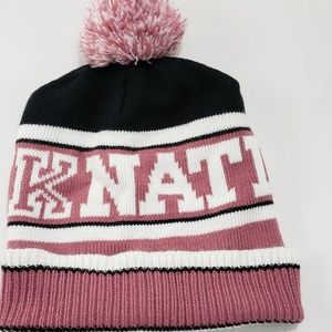 PINK Victoria Secrets Pink Nation Pom Beanie Hat